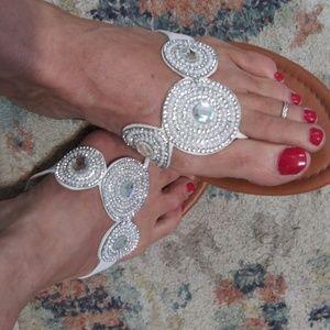 Pearl and Rhinestone Sandals